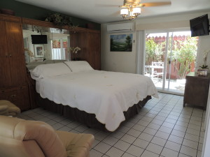 Interior view of Casa Larrea Inn, Deluxe Guest Room w/Kitchen, Palm Desert CA 92260